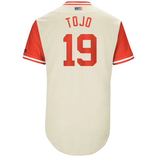 "Photo of Tommy ""Tojo"" Joseph Philadelphia Phillies Game-Used Players Weekend Jersey"
