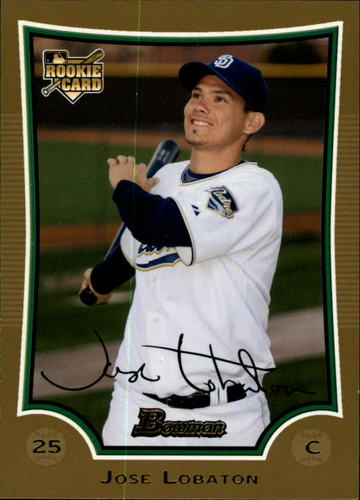 Photo of 2009 Bowman Draft Gold #BDP36 Jose Lobaton -- Nationals post-season