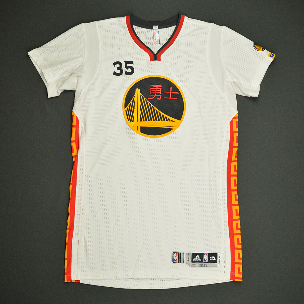 Kevin Durant - Golden State Warriors - Game-Worn Chinese New Year Jersey - 2016-17 Season