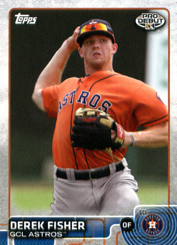 Photo of 2015 Topps Pro Debut #161 Derek Fisher -- Astros post-season