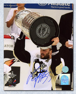 Sergei Gonchar Pittsburgh Penguins Autographed 2009 Stanley Cup 8x10 Photo