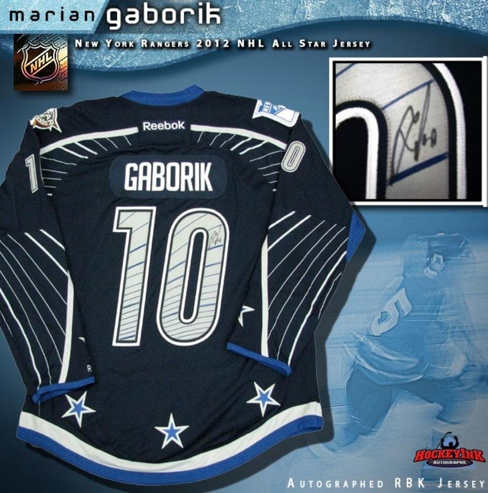 MARIAN GABORIK Signed New York Rangers 2012 All Star Game Reebok Premier Jersey