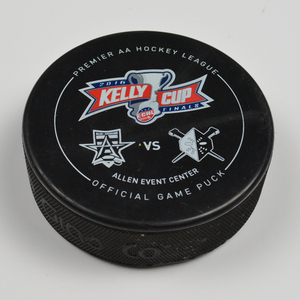 Tristan King - Allen Americans - 2016 Kelly Cup Finals - Goal Puck - Game 1 - Goal #1