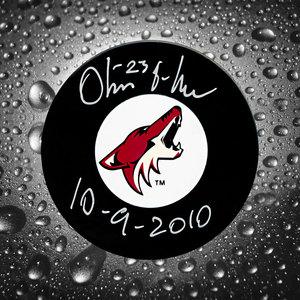 Oliver Ekman-Larsson Phoenix Coyotes 1st NHL Game Autographed Puck