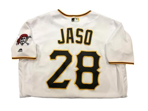 Photo of John Jaso Game-Used Home White Jersey - 2016 Opening Day (1 for 4, 1 RBI)