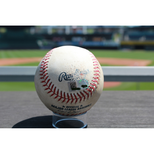 Photo of Game-Used Ramon Torres Single: Bottom 5th Inning (6/25/17 TOR at KC)