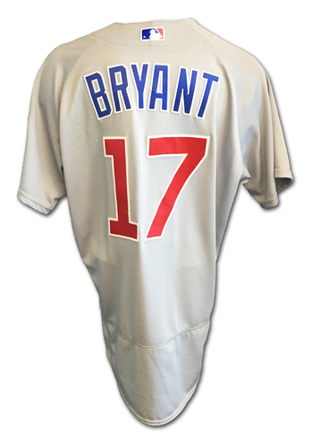 Kris Bryant Game-Used Jersey -- Cubs Clinch 2017 NL Central Division -- Cubs at Cardinals -- 9/27/17
