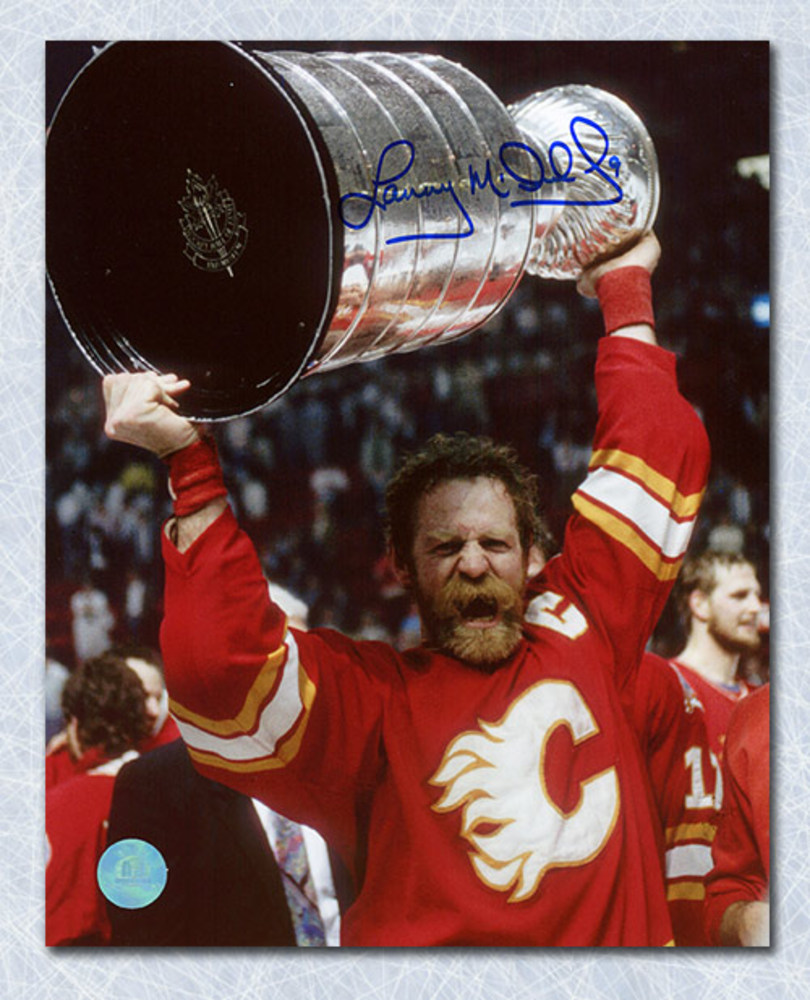 Lanny McDonald Calgary Flames Autographed 1989 Stanley Cup 8x10 Photo