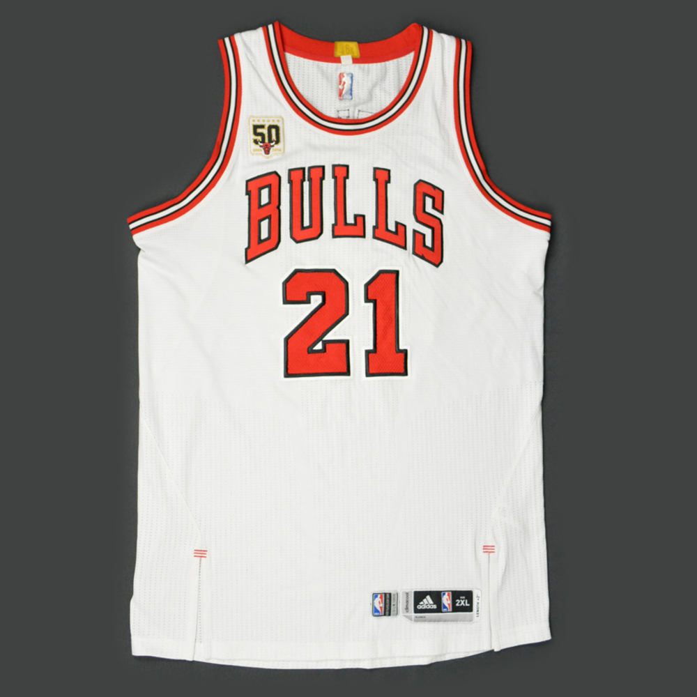 jimmy butler - chicago bulls - game-worn jersey - kia nba tip-off