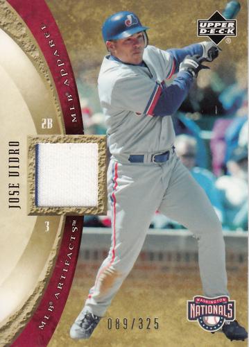 Photo of 2005 Artifacts MLB Apparel #JV Jose Vidro Jsy/325