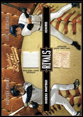 Photo of 2004 Leather and Lumber Rivals Materials #39 Ichiro Suzuki Base/Hideki Matsui Base/250