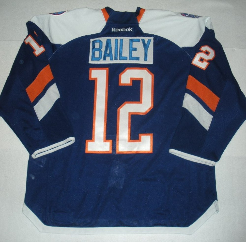 Josh Bailey - 2014 Stadium Series - New York Islanders - Blue Game-Worn Jersey - Worn in First Period