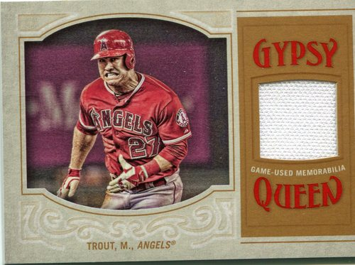 Photo of 2016 Topps Gypsy Queen Relics Mike Trout game-worn jersey