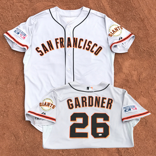 Photo of 2014 World Series Champion San Francisco Giants - 2014 NLCS Game 2 - Game-Used Jersey - Mark Gardner