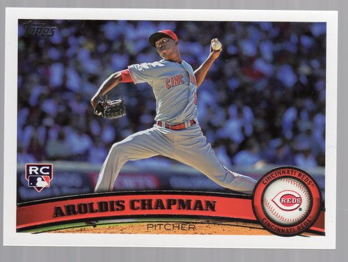 Photo of 2011 Topps #110 Aroldis Chapman Rookie Card