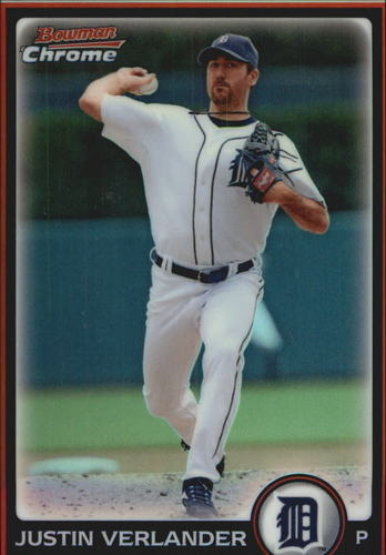 Photo of 2010 Bowman Chrome Refractors #87 Justin Verlander -- Astros post-season