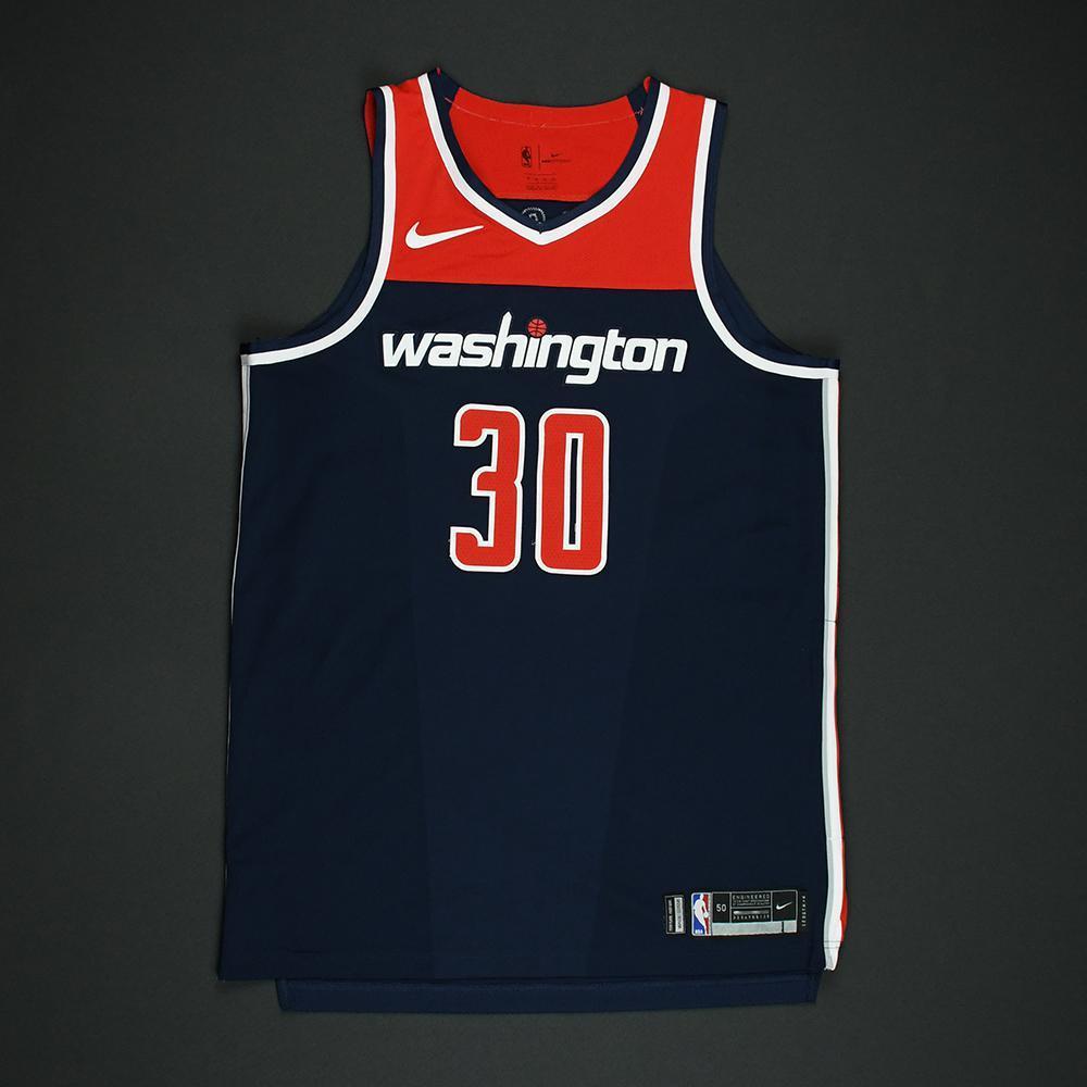 Mike Scott - Washington Wizards - 2018 NBA Playoffs Game-Worn 'Statement' Jersey