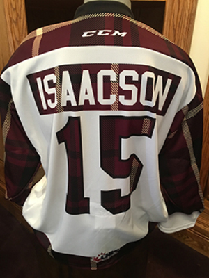 Nick Isaacson (#15) - Game-Worn #PetesPlaidNight Jersey