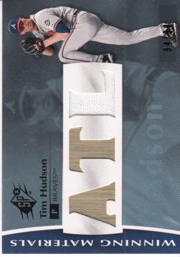 Photo of 2008 SPx Winning Materials Team Initials 99 #TH Tim Hudson