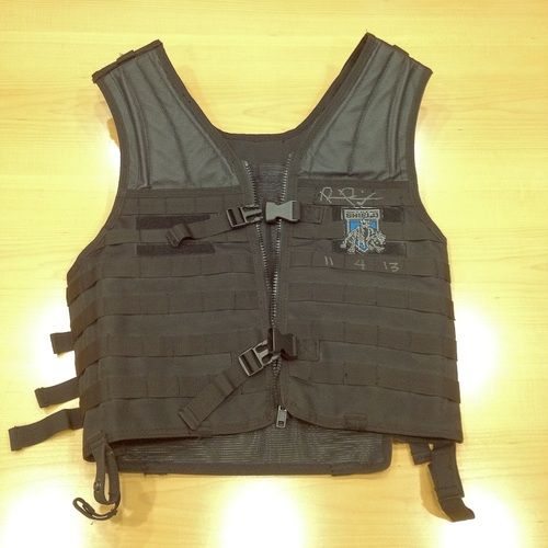WORN & SIGNED Roman Reigns Tactical Shield Vest (RAW 11/04/13)
