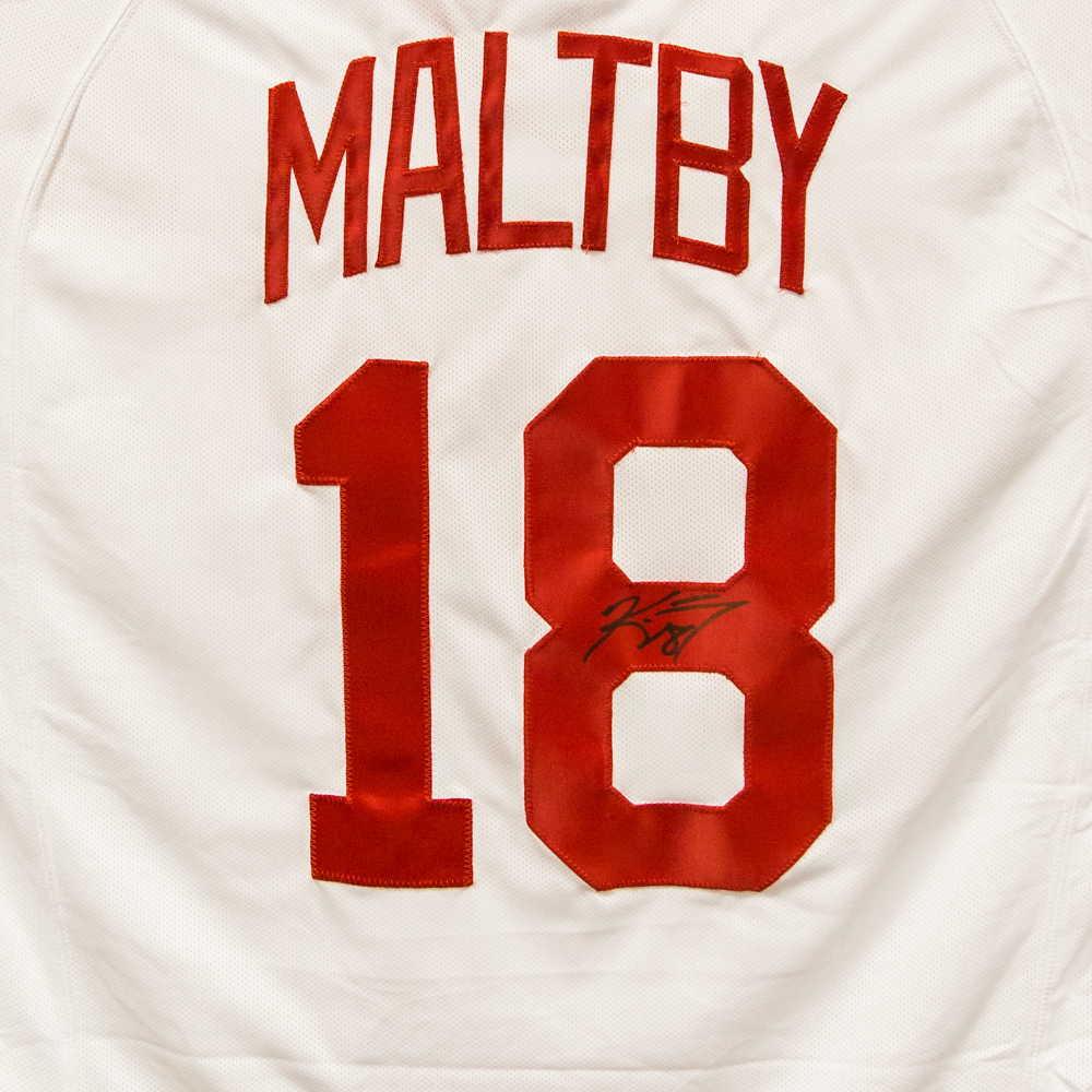 Autographed Kirk Maltby Jersey from Nicklas Lidstrom Jersey Retirement Night - Detroit Red Wings