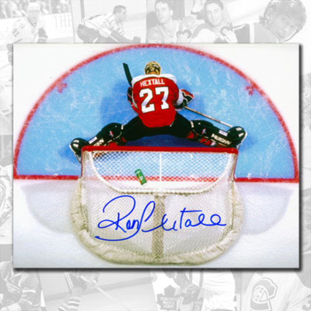 Ron Hextall Philadelphia Flyers Overhead Autographed 8x10