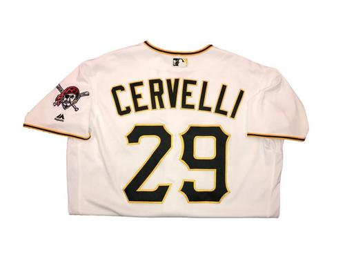Photo of Francisco Cervelli Game-Used Home White Jersey - 2016 Opening Day (2 for 3, Triple, Run Scored)