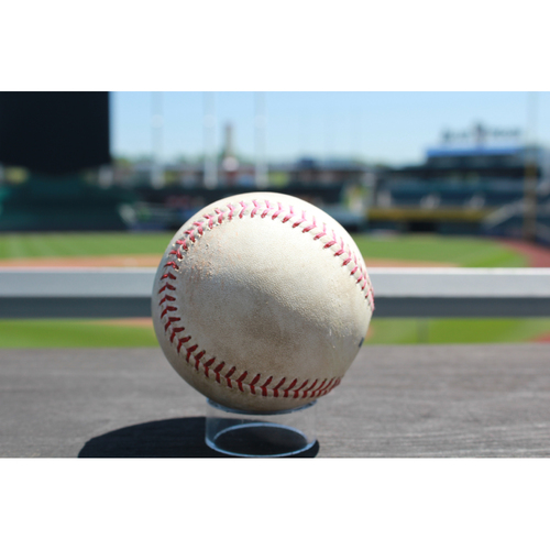 Photo of Game-Used Cheslor Cuthbert Single: Bottom 2nd Inning (6/19/17 BOS at KC)