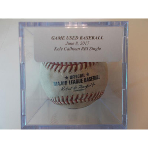 Photo of Game-Used Baseball: Kole Calhoun RBI Single