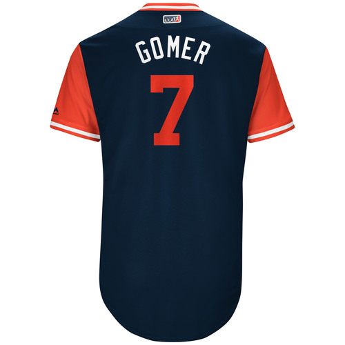 "Photo of Yan ""Gomer"" Gomes Cleveland Indians Game-Used Players Weekend Jersey"