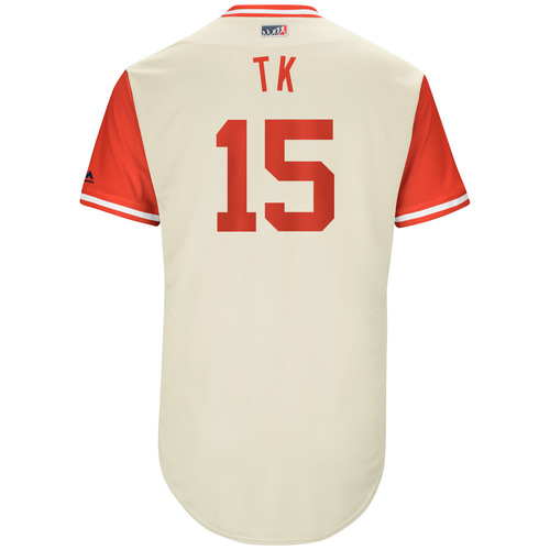 "Photo of TY ""TK"" Kelly"" Philadelphia Phillies Game-Used Players Weekend Jersey"