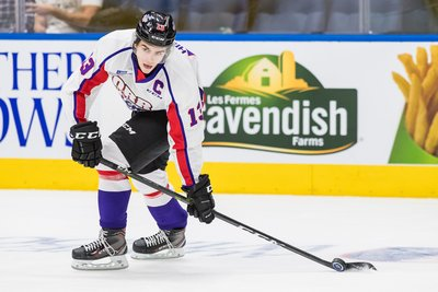 Nico Hischier 2017 Sherwin-Williams CHL/NHL Top Prospects Game Worn Jersey