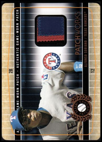 Photo of 2005 Fleer Patchworks Patch Die Cut #AS Alfonso Soriano