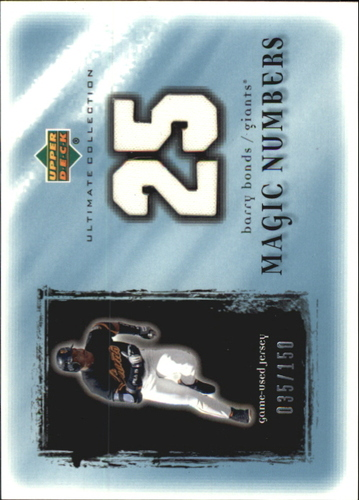 Photo of 2001 Ultimate Collection Magic Numbers Game Jersey #MNBB Barry Bonds