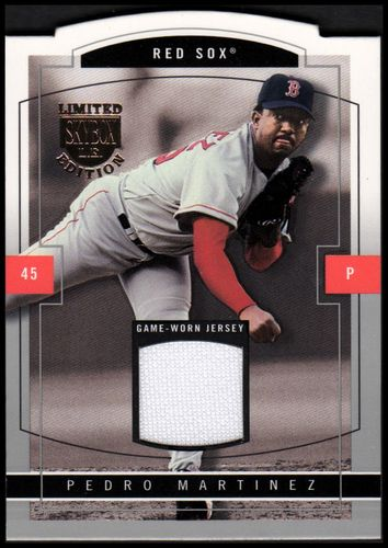 Photo of 2004 SkyBox LE Jersey Proof Silver #10 Pedro Martinez/50