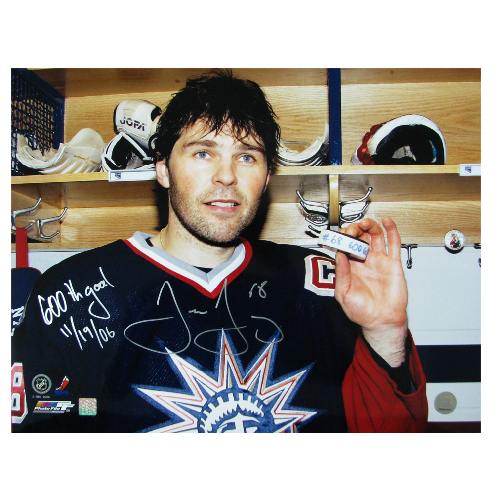 JAROMIR JAGR Signed and Inscribed New York Rangers