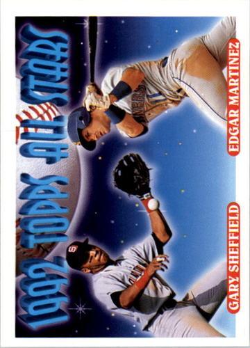 Photo of 1993 Topps #403 Gary Sheffield/Edgar Martinez AS