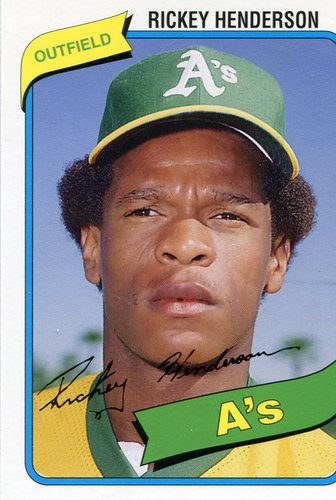 Photo of 2006 Topps Rookie of the Week #21 Rickey Henderson 1980