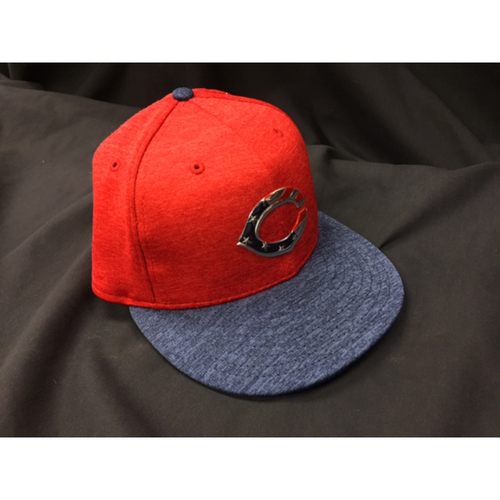 Photo of Zack Cozart -- Game-Used Cap from Reds @ Rockies on July 4, 2017