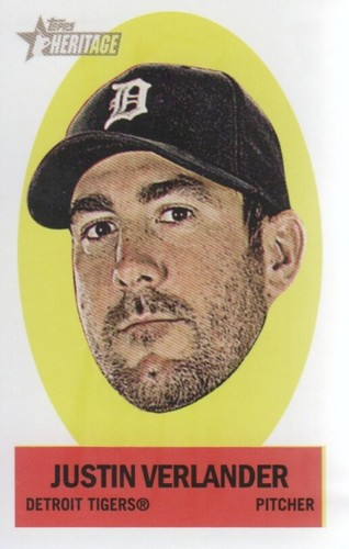 Photo of 2012 Topps Heritage Stick-Ons #42 Justin Verlander -- Astros post-season