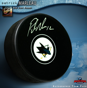 PATRICK MARLEAU Signed San Jose Sharks New Style Puck