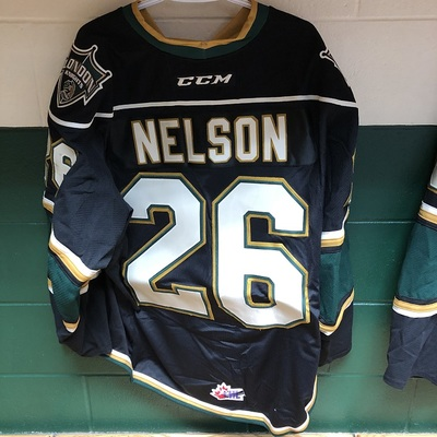 Josh Nelson 2016-2017 Black Game Jersey