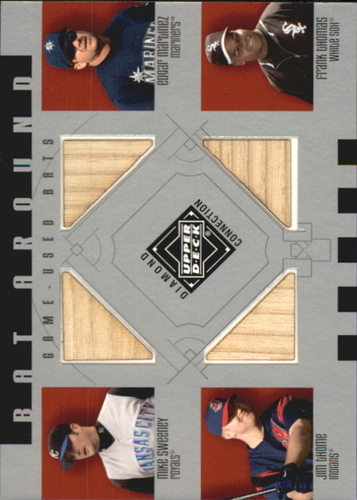 Photo of 2002 Upper Deck Diamond Connection Bat Around Quads #SMTT Mike Sweeney/Edgar Martinez/Jim Thome/Fran