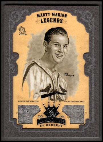 Photo of 2004 Diamond Kings DK Materials Framed Silver Sepia #162 Marty Marion LGD Dual Jersey 06/10