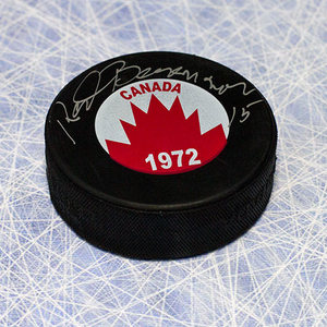Red Berenson Team Canada Autographed 1972 Summit Series Hockey Puck