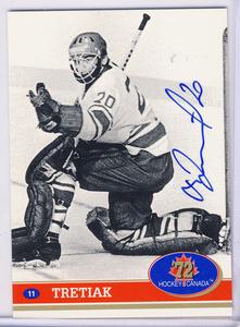 Vladislav Tretiak USSR Autographed Hockey Card