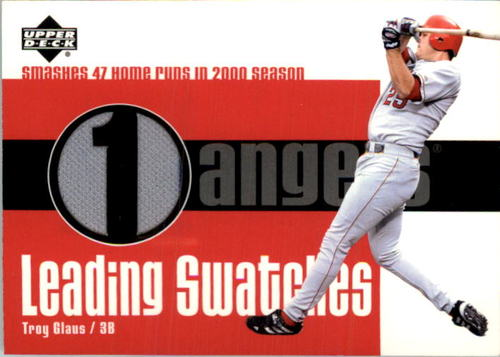 Photo of 2003 Upper Deck Leading Swatches #TG Troy Glaus HR