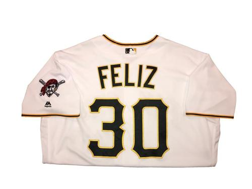 Photo of Neftali Feliz Game-Used Home White Jersey - 2016 Opening Day (1.0 IP, 1 SO)