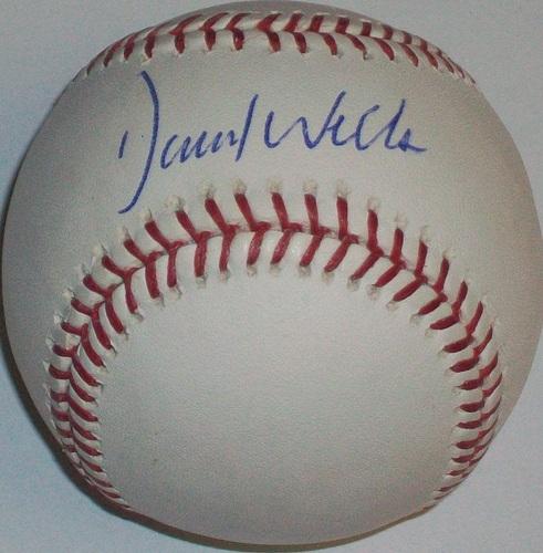 Photo of David Wells Autographed Baseball