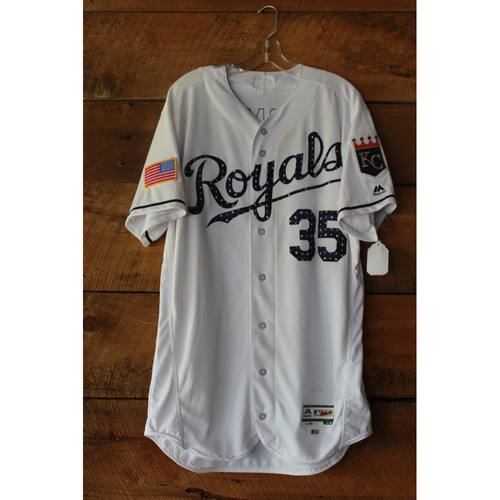 Photo of Eric Hosmer Game-Used Jersey (7/1/17 MIN at KC) (Size 46)